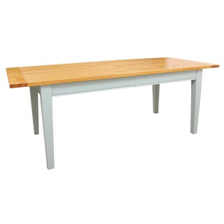 Mid Century Modern Solid Pine Dining Table For Sale