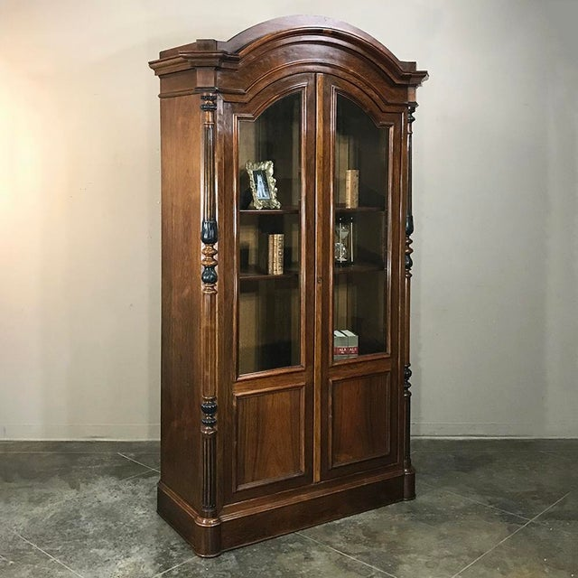 19th Century French Louis Philippe Rosewood Bookcase For Sale - Image 4 of 12