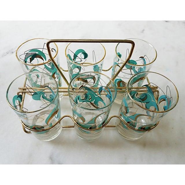 Mid Century Atomic Glasses - Set of 6 - Image 2 of 9