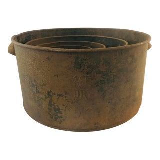 Late 19th Century Dry Measure Farmhouse Set - 4 Pieces For Sale
