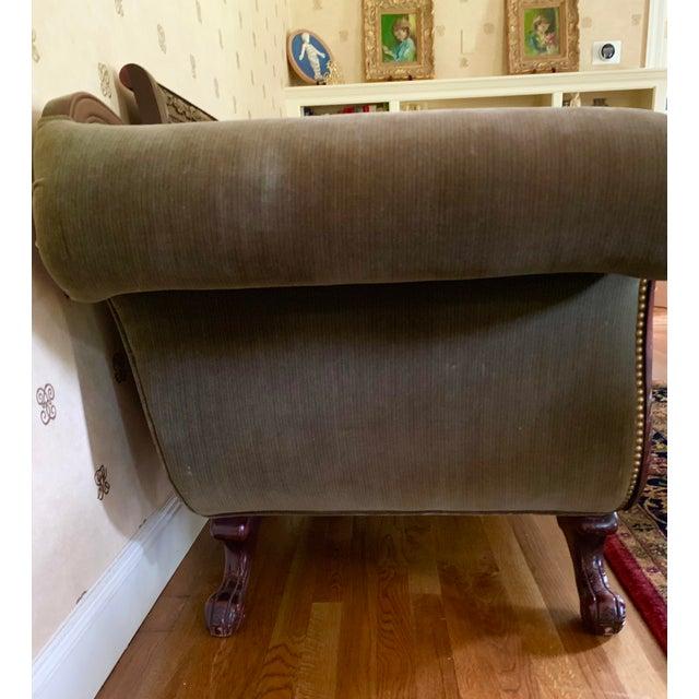 21st Century Vintage Tufted-Back Sofa For Sale - Image 9 of 11