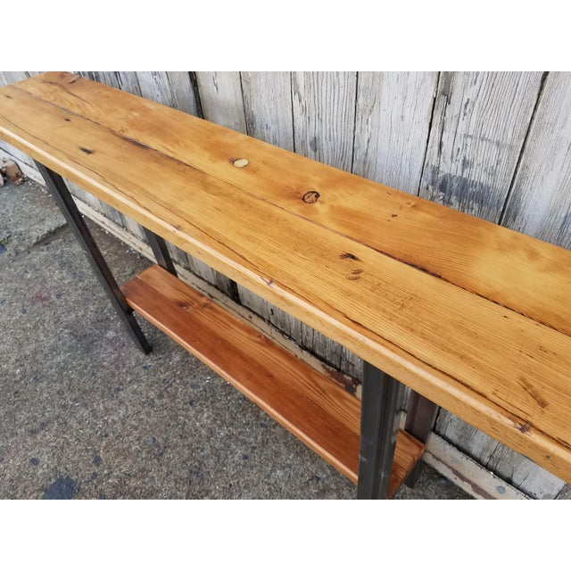Reclaimed Wood Console Table - Image 5 of 6
