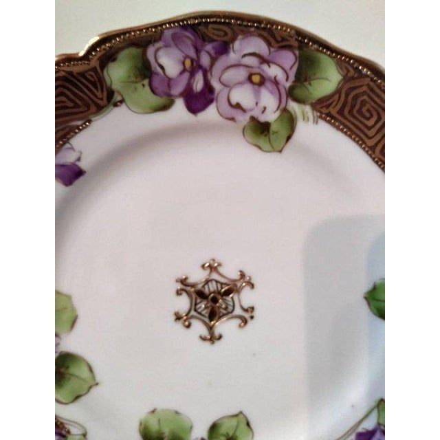 Gold 19th Century French Limoges Art Deco Plate For Sale - Image 8 of 10
