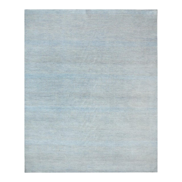 """Contemporary Hand Loomed Area Rug 7' 11"""" x 9' 11"""" For Sale"""