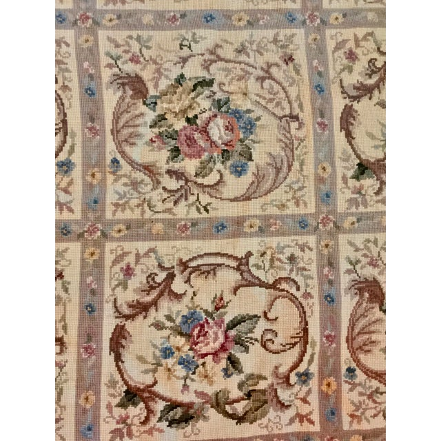 Blue French Aubusson Needlepoint Rug - 8′6″ × 11′6″ For Sale - Image 8 of 11
