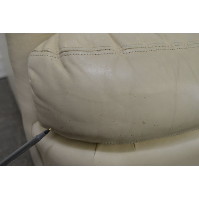 Hancock & Moore Off White Leather Sofa For Sale - Image 9 of 13