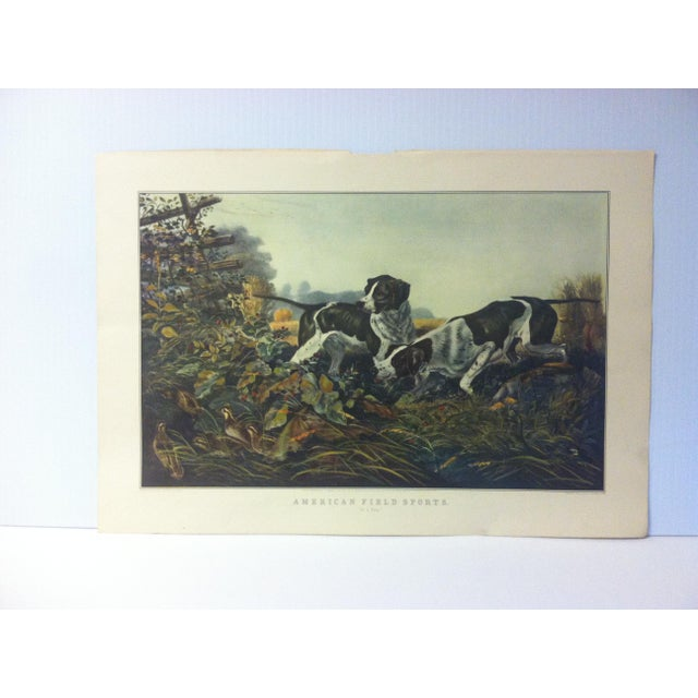 """Currier & Ives Color Print, """"American Field Sports"""", 1954 For Sale - Image 4 of 4"""