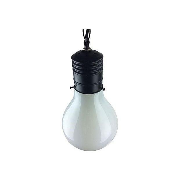 1970s Pop Art Giant Lightbulb Pendant Light For Sale - Image 5 of 5