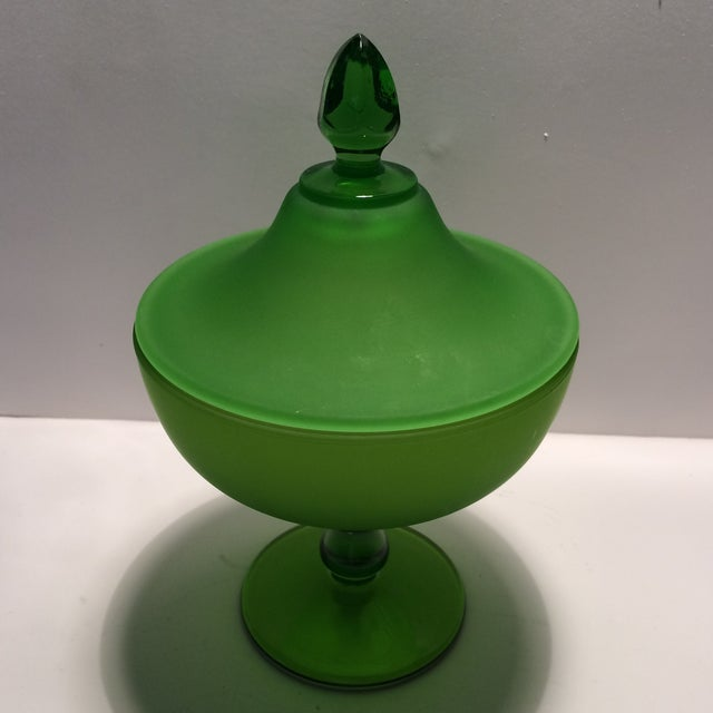 This wonderful candy dish was made by the Westmorland in the 1940's. It is in like new condition. The finial and base is...