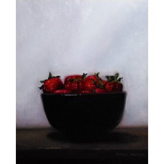 """James Hansen """"A Mountain of Strawberries"""" Oil Painting For Sale"""