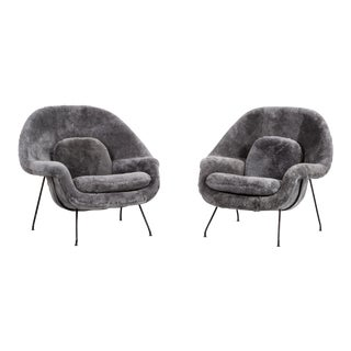 Set of Eero Saarinen Womb Chairs