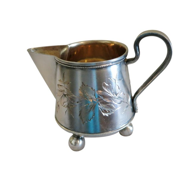 Late 19th Century Vintage Russian Silver Creamer For Sale - Image 4 of 5