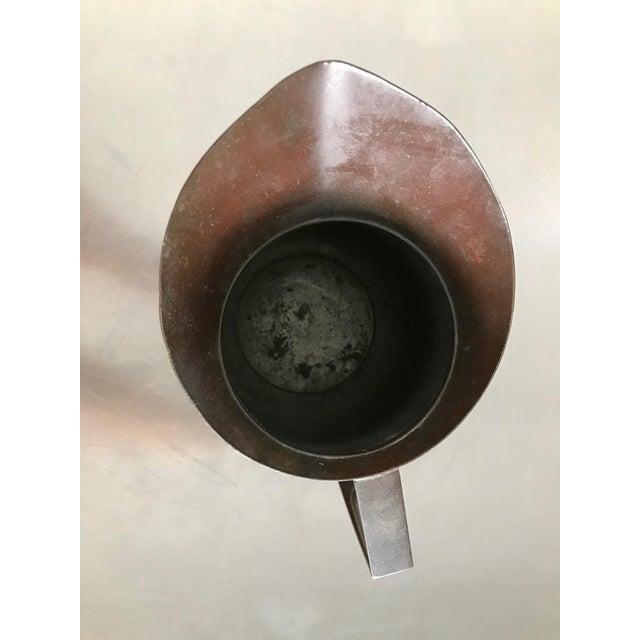 Vintage Bel Geddes Era Art Deco Copper Metal Water Pitcher - Image 9 of 10