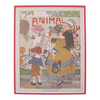 1918 British Vintage Children's Illustration, Animal Show For Sale