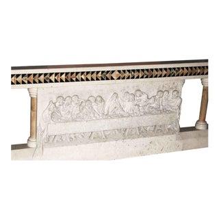 Carved Marble Altar Rail