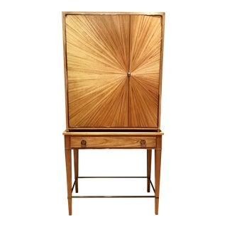 Modern Henredon Ellington Circle Bar Cabinet For Sale