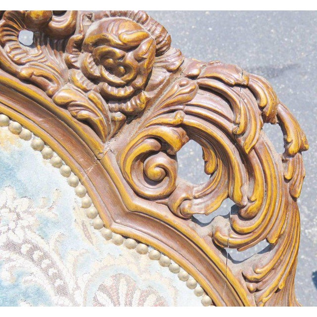 Pair of Victorian Style Carved Bergeres - Image 5 of 8
