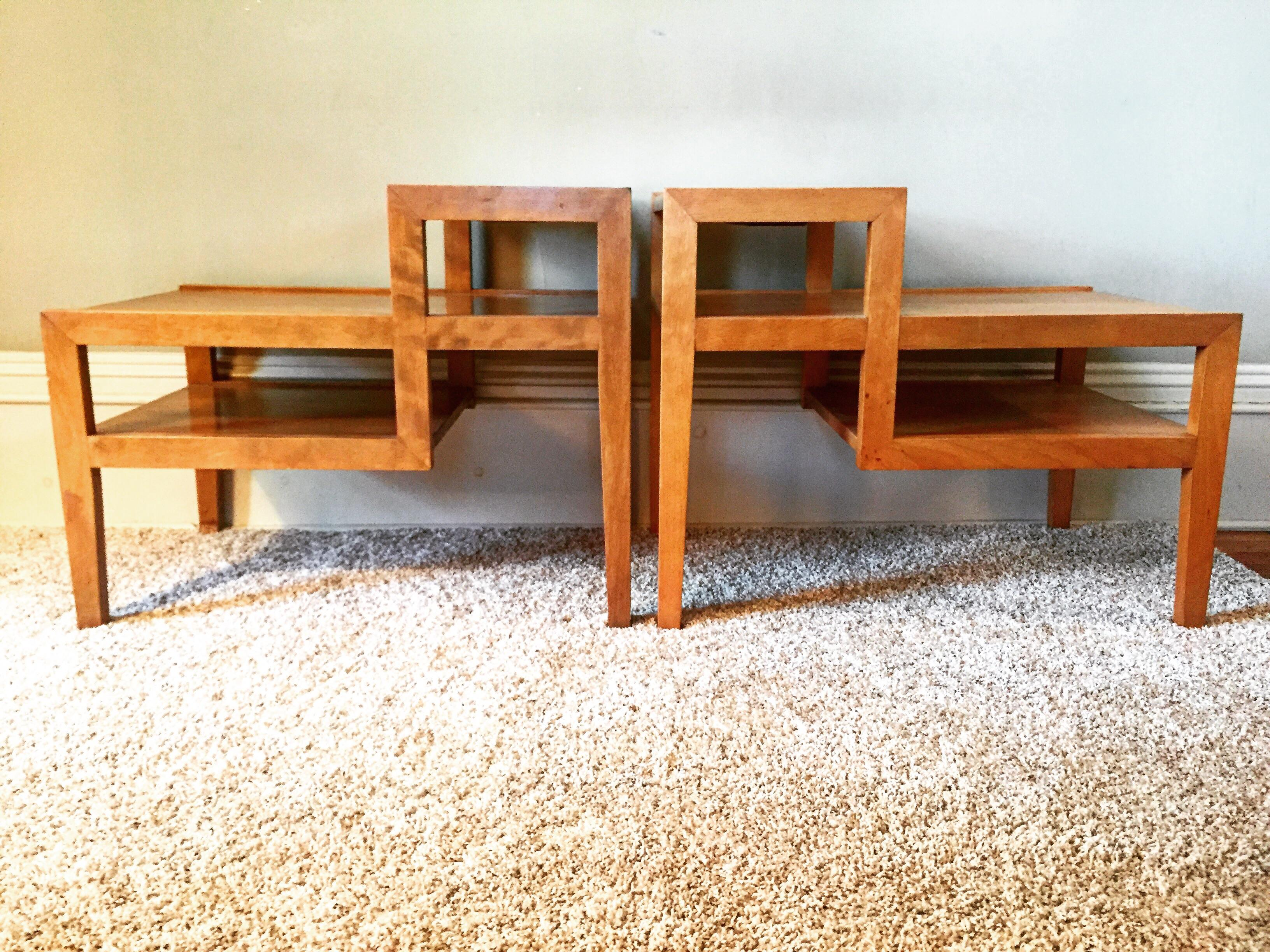 Conant Ball Step Up Side Tables   Pair   Image 2 Of 11