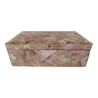 C.1980s Karl Springer Attr. Pen Shell Organic Box