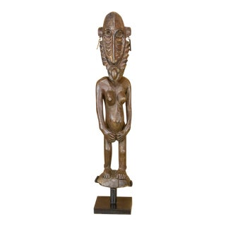 African Tribal Carved Statue For Sale