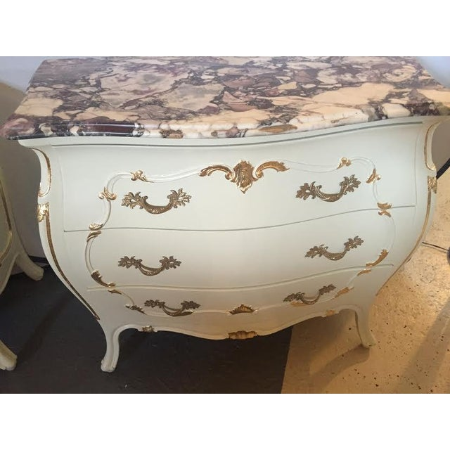 Paint Decorated Marble Top Chests- A Pair - Image 10 of 10