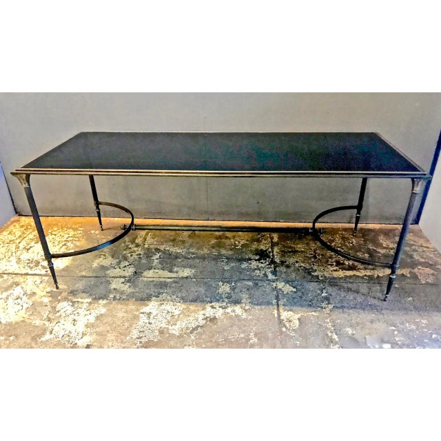 Maison Bagues Bronze and Glass Coffee Table, C. 1950-60 For Sale - Image 9 of 9