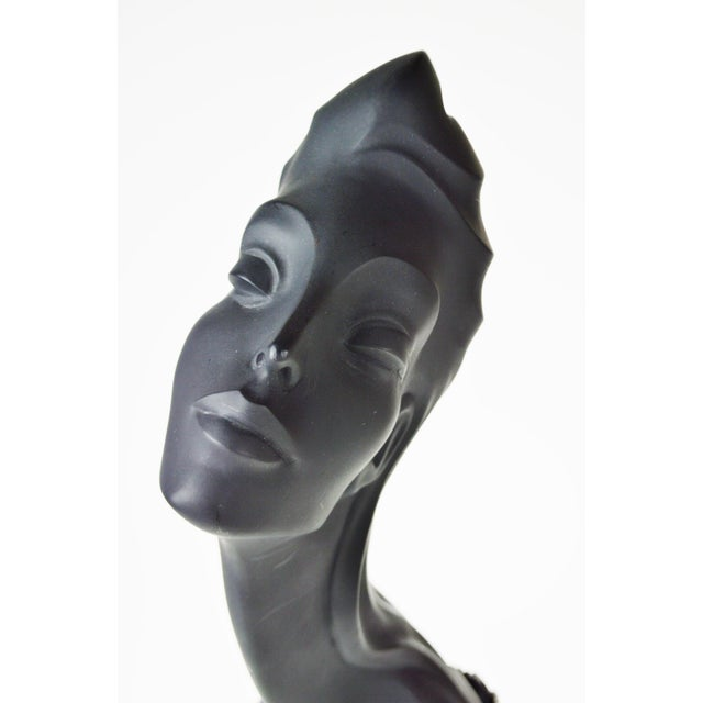 Vintage 1990 Austin Productions Alexander Danel Pearls Sculpture of Woman - Rare For Sale - Image 9 of 13