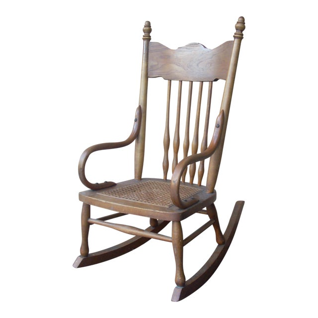 Child's Caned Rocking Chair For Sale