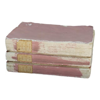Faux Book Box in Pretty Pink For Sale