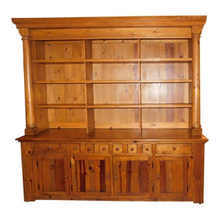 1990s Ralph Lauren Traditional Pine Display Cabinet