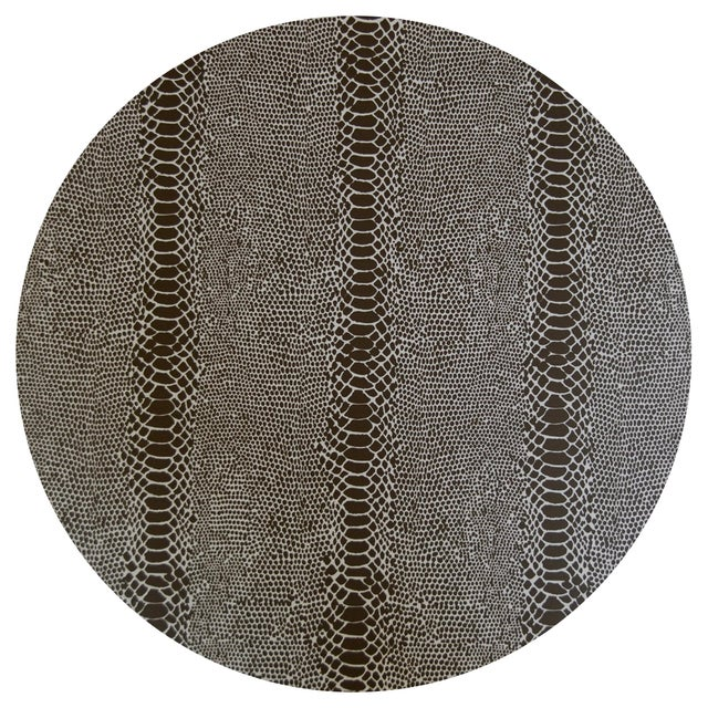 Contemporary Snakeskin Placemat in Black For Sale - Image 3 of 3