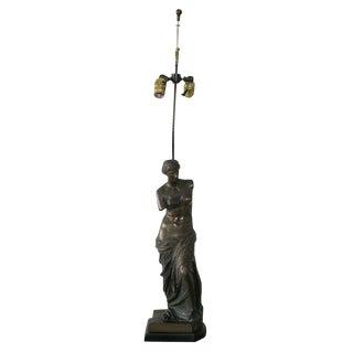 Bronze Table Lamp Venus de Milo For Sale