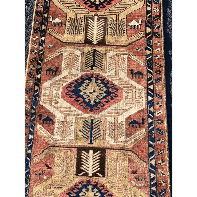 This is a gorgeous Persian Sarab runner from Iran in excellent condition. The piece was made in the 1950s.