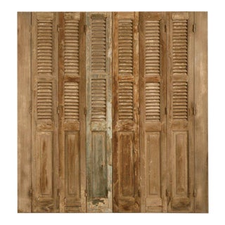 Antique French Shutters with Original Paint - Set of 6 For Sale