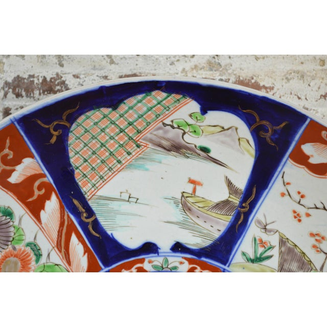 19th Century Paneled Japanese Imari Charger For Sale - Image 4 of 10