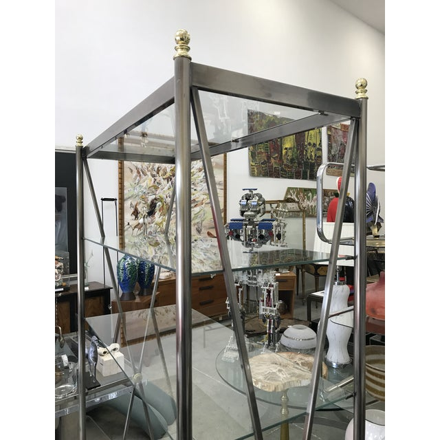 Gold Dia Etagere with Glass Shelves For Sale - Image 8 of 13