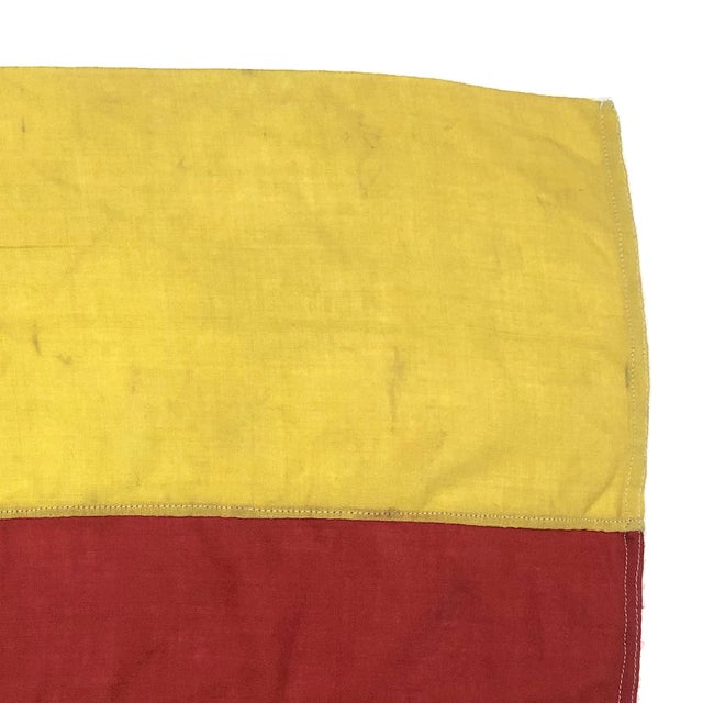Mid Century Nautical Wool Signal Flag For Sale - Image 4 of 6