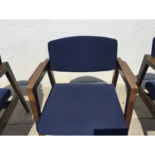 Vintage Navy Modern Chairs - Set of 4 - Image 10 of 11