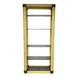 Hollywood Regency Faux Bamboo Etagere For Sale