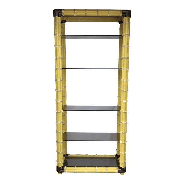 Hollywood Regency Faux Bamboo Etagere - Image 1 of 11