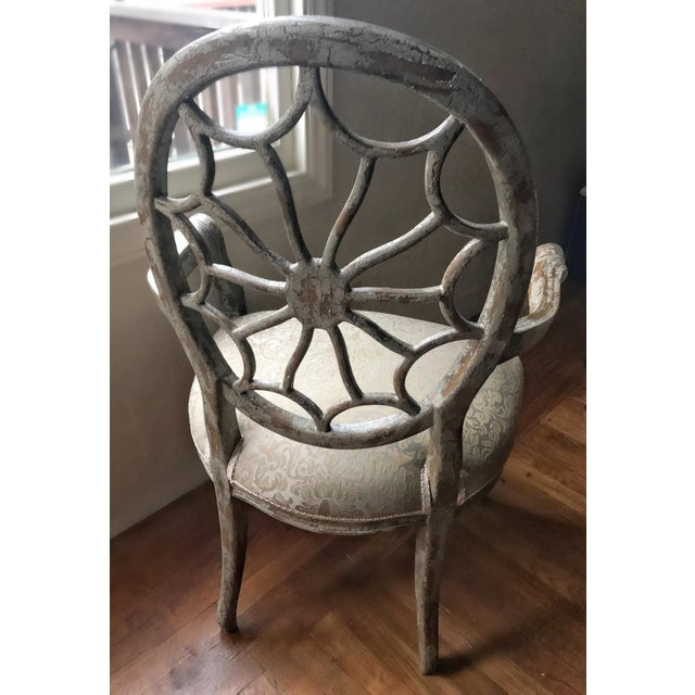 Green Distressed Side Dining Chair - Image 5 of 11