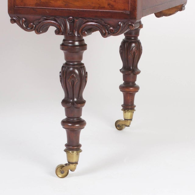 Brown Rare Antique Irish Mahogany Desk For Sale - Image 8 of 10