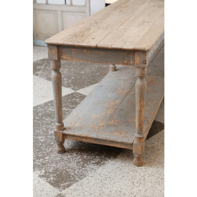 Massive French Drapers Table For Sale - Image 9 of 11