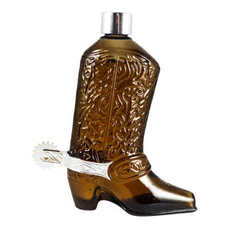 1967 Avon Western Boot Glass After Shave Decanter
