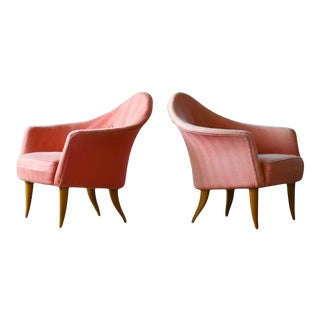 "Pair of Midcentury Lounge Chairs Model ""Lilla Adam"" by Kerstin Horlin-Holmquist For Sale"