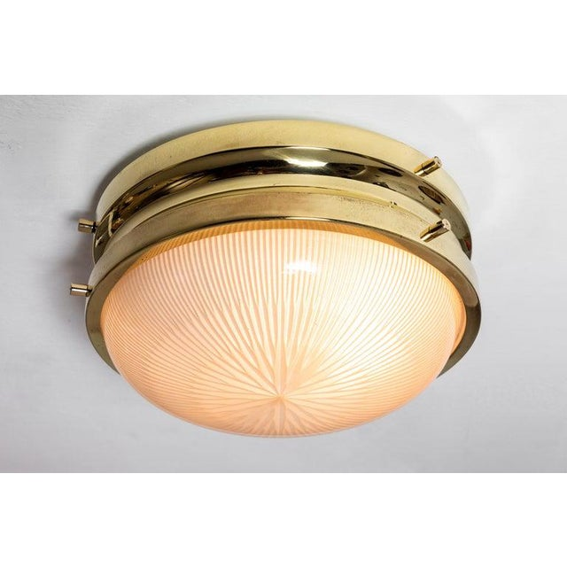 Metal 1960s Sergio Mazza Brass 'Sigma' Wall or Ceiling Light for Artemide For Sale - Image 7 of 13