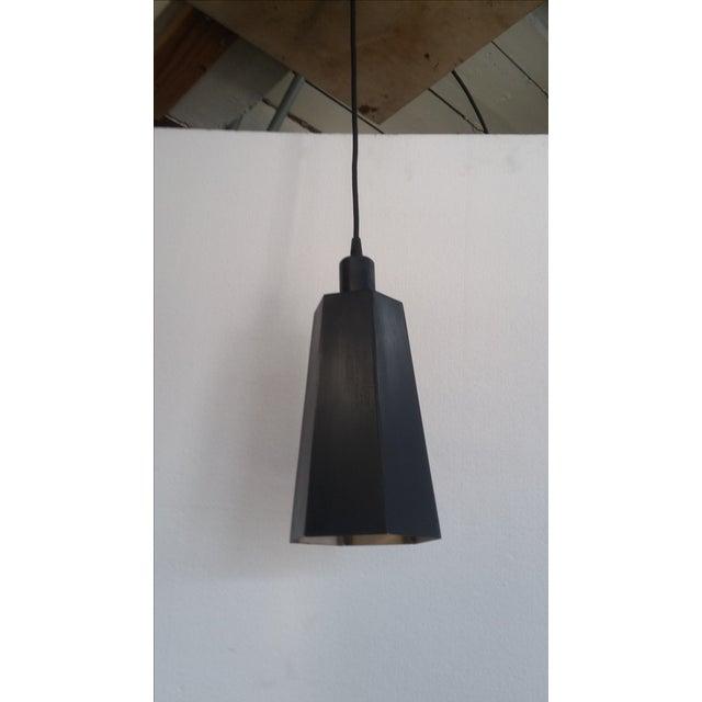 Vintage Steel Sheet Metal Pendant Light For Sale - Image 5 of 5