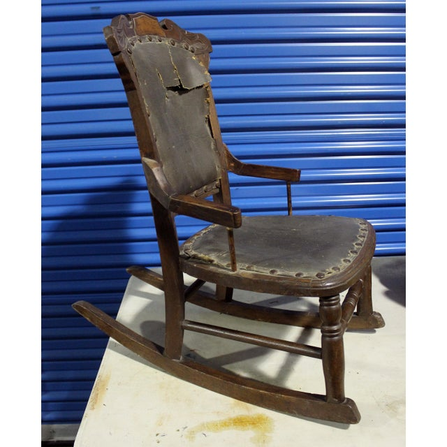 19th Century Antique Child's Rocking Chair For Sale In Los Angeles - Image 6 of 6