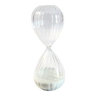Minimalist Glass Hour Glass For Sale