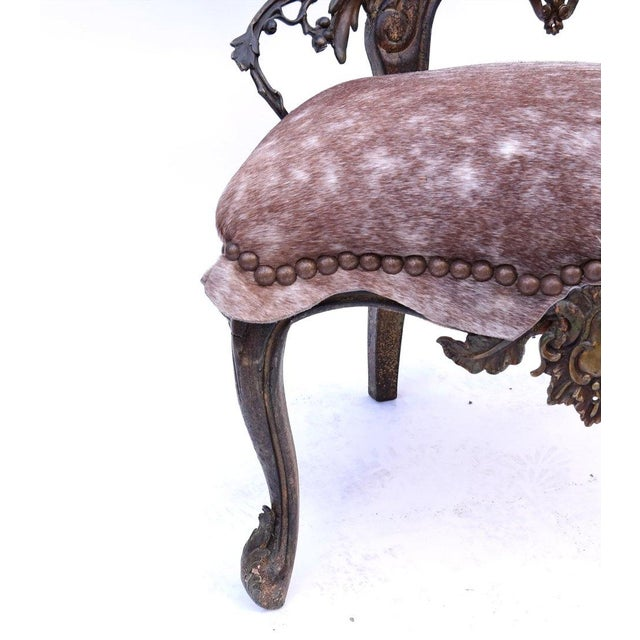 Horn Form Viking Style Side Chair - Image 3 of 8
